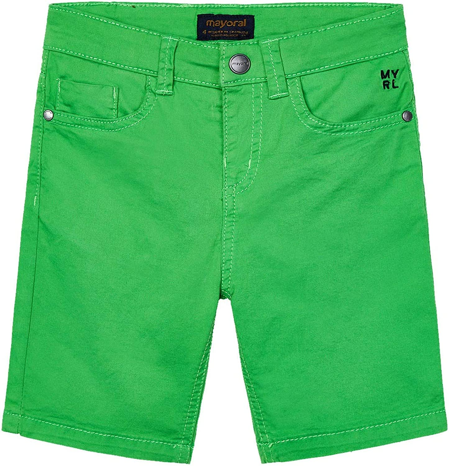 Mayoral - Basic 5 Pockets Twill Shorts Matcha 0204 Boys Department store for Spring new work