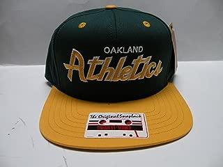 American Needle MLB Oakland Athletics Team Script 2 Tone Retro Snapback Cap