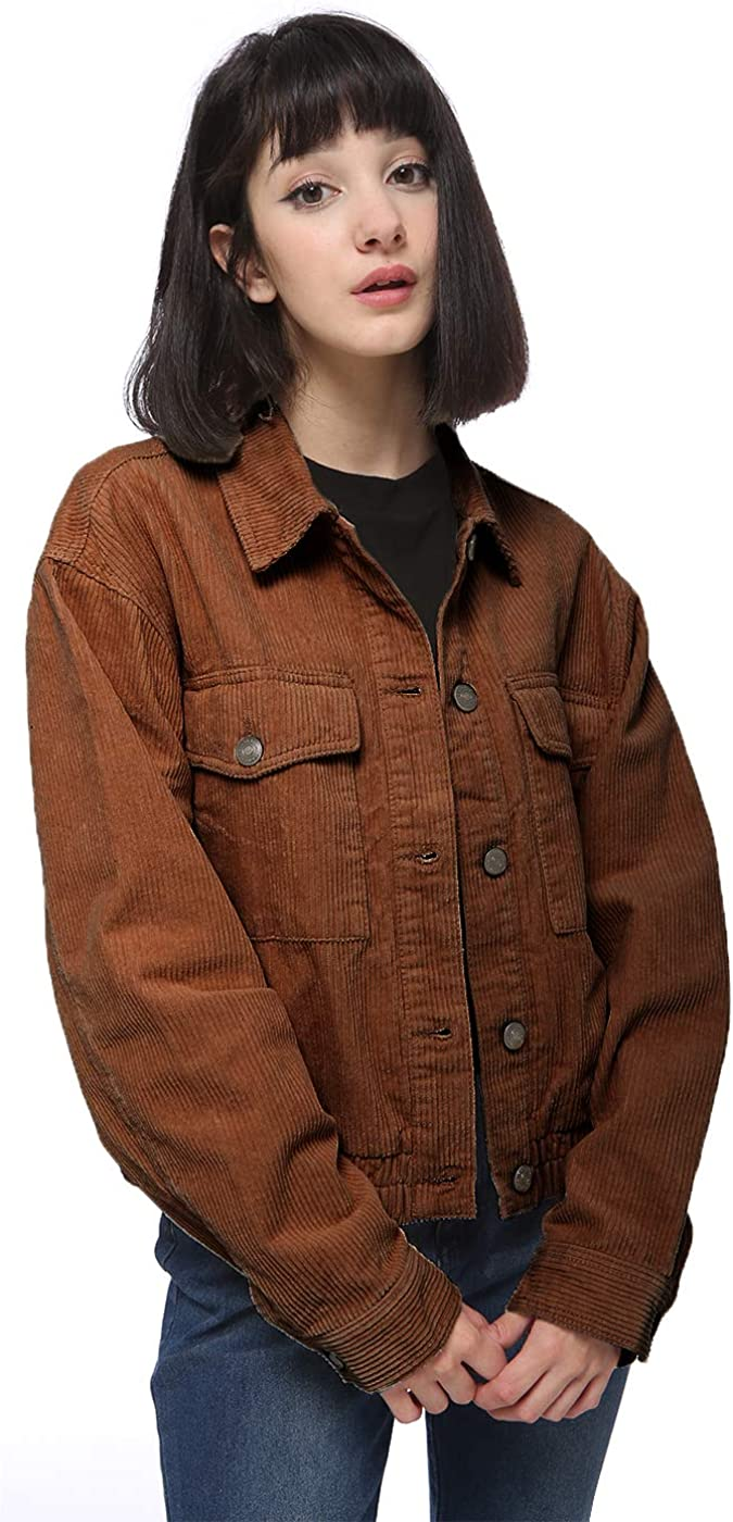 Max 73% OFF Anna-Kaci Women's Casual Corduroy Button Down Short Long Sleeve San Antonio Mall