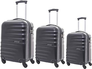 American Tourister Preston Hardside Spinner Luggage set of 3pieces with TSA Lock - Black