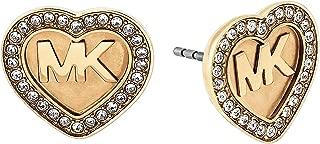 Michael Kors Logo Heart Stud Earrings