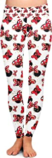 Rainbow Rules Minnie Bows and Mouse Ears Disney Inspired Yoga Leggings - Full Length, Low Waist