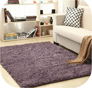 Heart to hear Carpet-Area Rugs para Casa Fluffy Anti-Slip Shaggy Carpets 16 Colors Gold Velvet Tapis Rugs Carpets for Living Room,Purple Gray,140cm x 200cm