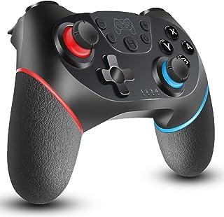 Switch コントローラー [2020最新] 無線 HD振動 小型6軸ジャイロセンサー搭載 スイッチコントローラーTURBO連射機能付き ジャイロセンサー Bluetooth接続 任天堂 スイッチの全てシステムに対応 任天堂 Nintendo...