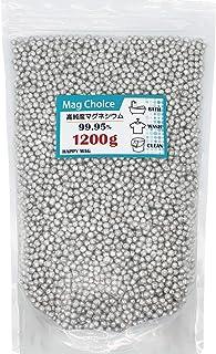[Amazon限定ブランド] Mag Choice【大容量1200g】マグネシウム 粒 ペレット 高純度 99.95% 洗濯 部屋干し 臭い 消臭 水素水 水素浴 風呂 掃除 DIY 5mm HAPPY MAG