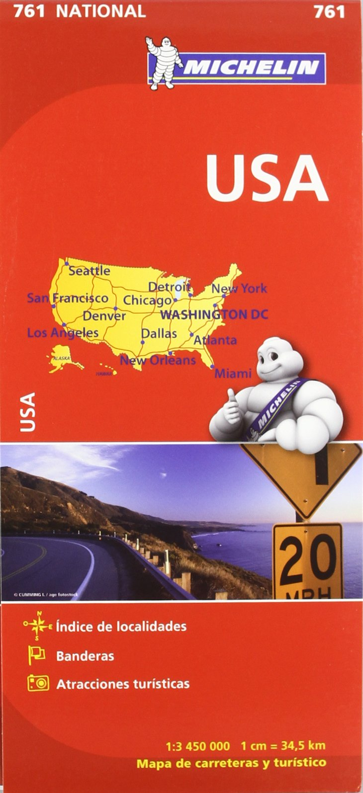Mapa National U.S.A. (Mapas National Michelin)