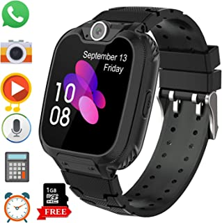 Kids Game Smart Watch Phone for Students, Girls Boys Touch Screen Smartwatch with MP3 Play SOS Camera Game Alarm Clock, Children's Gift Back to School (X6 Black)