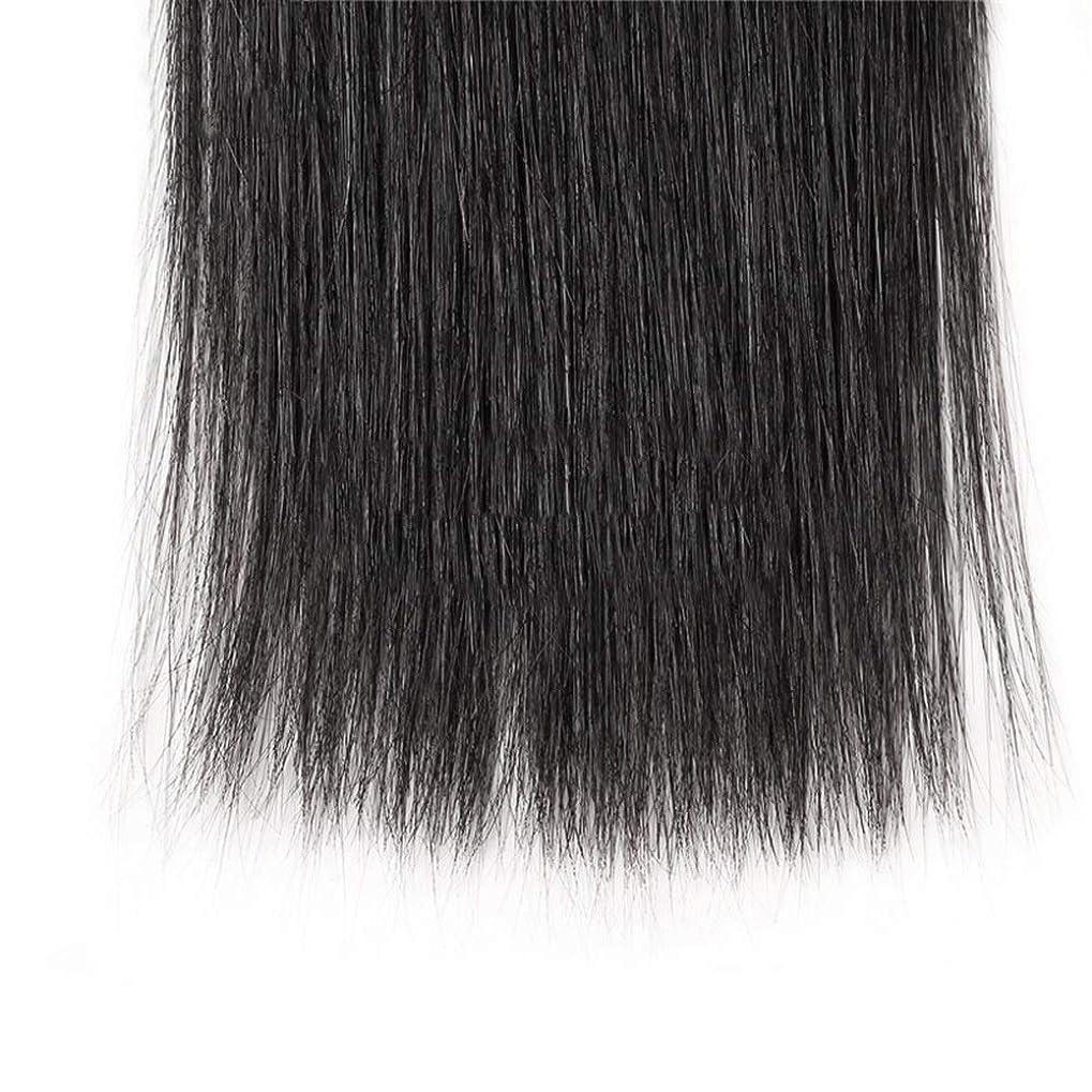 リラックスした意味のあるつなぐHOHYLLYA ブラジルのストレート人間の髪の毛の束8A絹のようなストレートヘアエクステンションナチュラルブラック(8