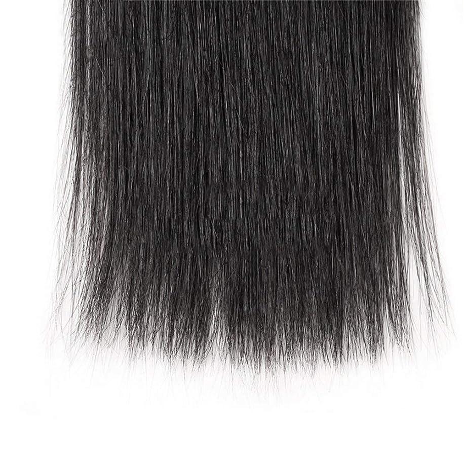推進連結するシャックルHOHYLLYA ブラジルのストレート人間の髪の毛の束8A絹のようなストレートヘアエクステンションナチュラルブラック(8