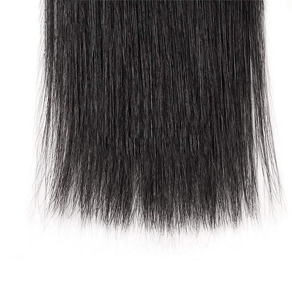 大惨事動機付けるケープHOHYLLYA ブラジルのストレート人間の髪の毛の束8A絹のようなストレートヘアエクステンションナチュラルブラック(8