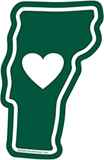 Heart in Vermont Static Cling | Inside window application reusable | Apply to window for all-season outside | or home auto car truck RV Camper windshield | BVT 802 Burlington maple syrup fall foliage
