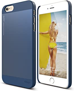 elago Outfit Aluminum and Polycarbonate Dual Case for the iPhone 6/6S Plus (5.5inch) + HD Professional Screen Film included - Full Retail Packaging (Jean Indigo/Jean Indigo)
