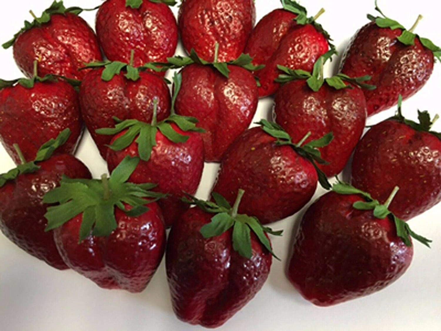 Artificial Large Strawberry Bag 100% quality warranty! of 24 Fruit Free shipping on posting reviews Strawber Decorative