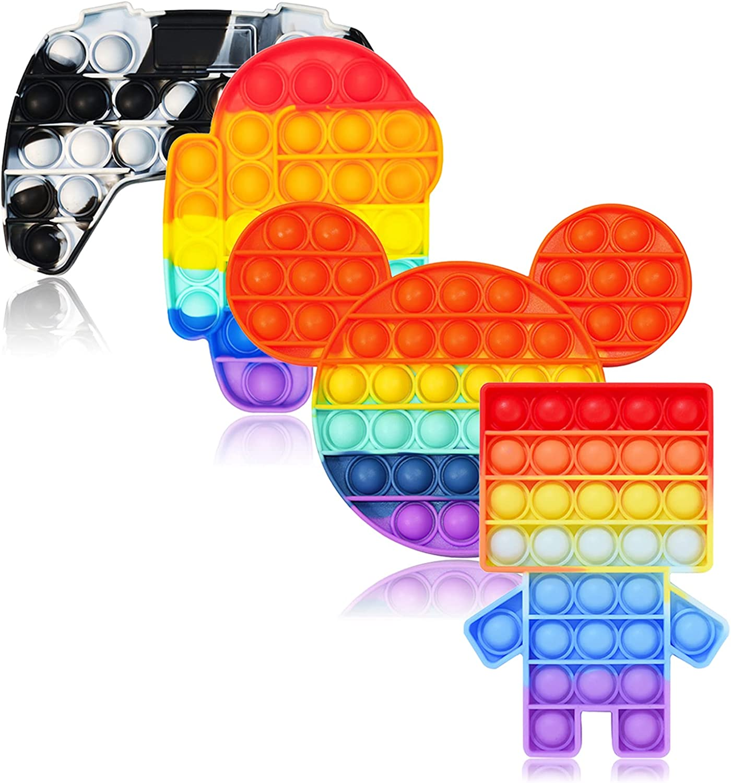 VARWANEO Fidget Toy Arlington Mall Push Pop Rainbow Dinosaur Save money Gamepad Bubble Kid