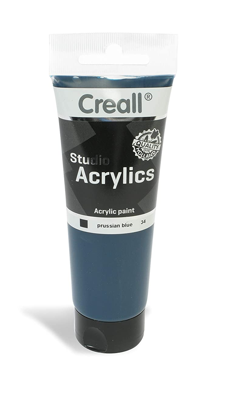 American Educational Products A-33734 Creall Studio Acrylics Tube, 120 mL, 34 Prussian Blue