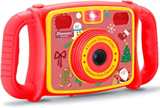 Prograce Kids Camera Creative Camera Digital Video Camera Camcorder for Boys Girls with 4X Digital Zoom, Flash Light and Funny Game(Christmas Edition)