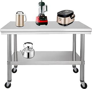 Amazon.it: Tavoli Acciaio Cucina