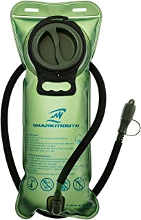 SHARKMOUTH 2 Liter Hydration Bladder - Heavy Duty Replacement Water Reservoir - Leak Proof Cap - for Hiking, Camping, Cycling, Hunting