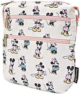 Loungefly x Mickey and Minnie Mouse Pastel Nylon Crossbody Purse