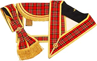Masonic Regalia Scottish Rite Apron, Sash and Collar Set (Imitation)