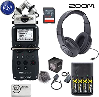 Zoom H5 Digital Recorder + APH-5 Accessory Pack + 32GB SD Card + Headphones + K&M Micro Cloth