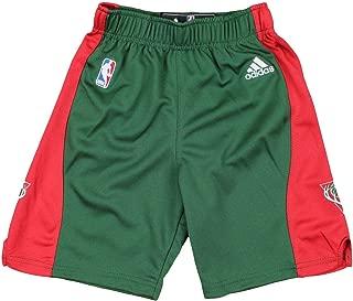 adidas Milwaukee Bucks NBA Youth Big Boys Replica Road Shorts - Green