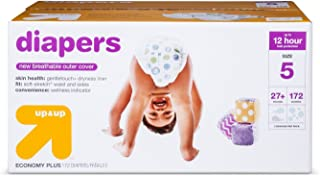 Up&Up Diapers Bulk Plus Pack, Size 5, 172 ct