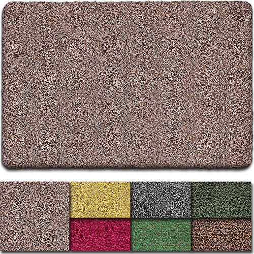 "BEAU JARDIN Indoor Doormat Super Absorbent Mud Front Door Mat 36""x24"" Latex Backing Non Slip for Front Inside Dirt Trapper Mats Cotton Entrance Rug Shoes Scraper Machine Washable Rug Carpet"