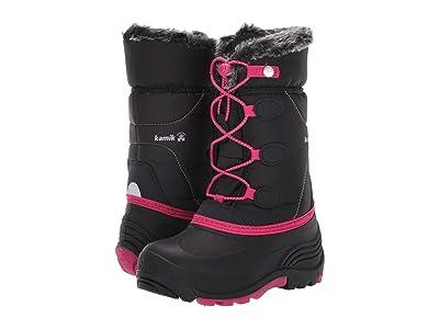 Kamik Kids Switch (Toddler/Little Kid/Big Kid) (Black/Bright Rose) Girls Shoes