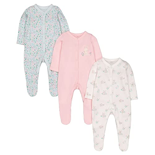 25f59a26a Mothercare Baby Girls 3 Pack Bunny Sleepsuits