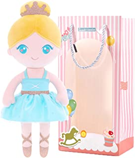 Gloveleya Baby Doll Girl Gifts Ballet Plush Toy Soft Dolls Light Blue 13 Inches with Gift Box