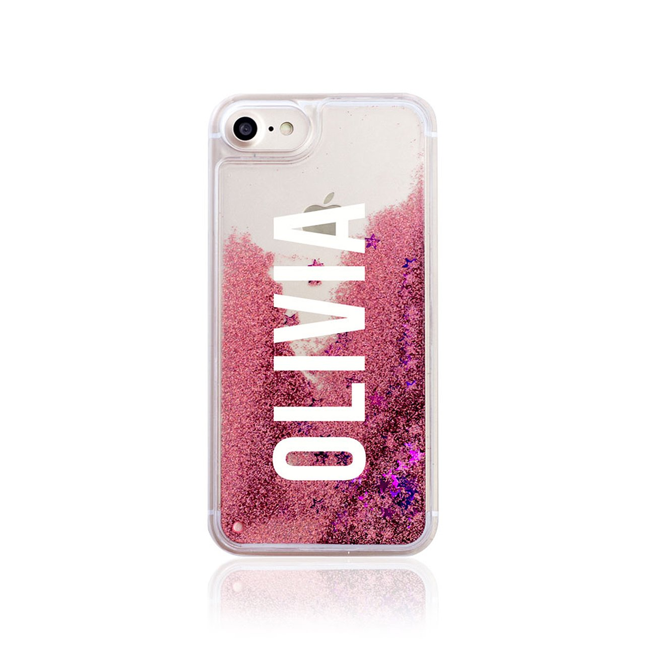 personalised iphone 6s case amazon co ukiphone 6 \u0026 6s tirita personalised real liquid glitter hard case bling rose gold pink handwriting