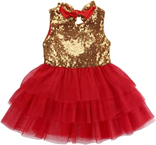 Super Cute Baby Girl Bling Sequins Dress Babies Girls Bow Tulle Heart Backless Party Dresses Sundress Clothing