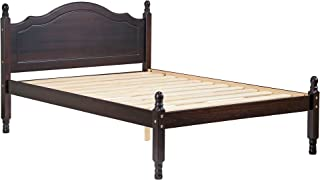 Palace Imports 100% Solid Wood Reston Panel Headboard Platform Bed, Full Size, Java Color, 12 Slats Included. Optional Trundle, Drawers, Rail Guard Sold Separately. Requires Assembly