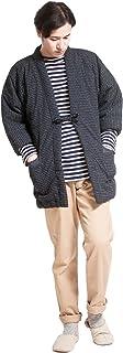 はんてん メンズ 冬 日本製 久留米 おしゃれ 半纏 男性用 綿入り 暖かい 紬織 中綿 袢纏 どてら あったかい 部屋着 フリーサイズ