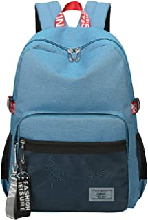 Classic Backpack Haversack Travel School Bag Student Simple Daypack Bookbag by Mygreen(Blue)