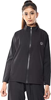 CHKOKKO Women's Sports Full Sleeves Zipper Running Jacket