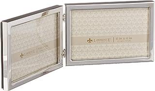 إطارات لورانس 6 × 4 مفصلة مزدوجة الفضة معيار إطار صورة معدني