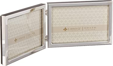 Lawrence Frames 6x4 Hinged Double Silver Standard Metal Picture Frame