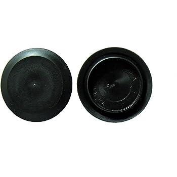 "1 1//4/"" 1.25 Inch Flush Mount Black Plastic Body Sheet Metal Hole Plugs Qty 10"