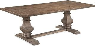 Bassett Mirror Kinzie Rect Dining Table in Rustic Pine Finish 3170-600B-TEC