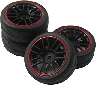 ShareGoo 12mm Hex Wheel Rims & Rubber Tires for RC 1/10 on-road