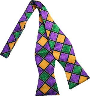 Mardi Gras Self Tie Bow Tie