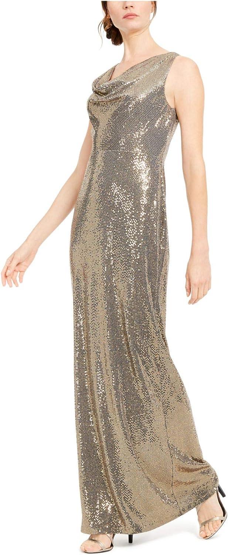 famous Oakland Mall Calvin Klein Women's Sleeveless Gown Cowl Neck