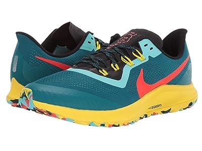 Nike Air Zoom Pegasus 36 Trail (Geode Teal/Bright Crimson/Black) Men