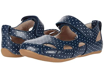 Livie & Luca Moon (Toddler/Little Kid) (Navy Polka Dot) Girl