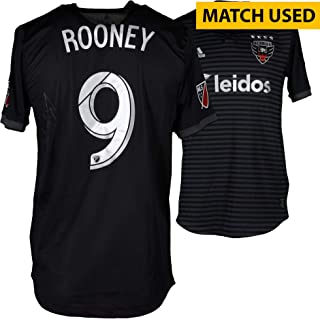 e46da64fd83 Wayne Rooney D.C. United Autographed Player-Issued  9 Black Jersey from the  2018 MLS