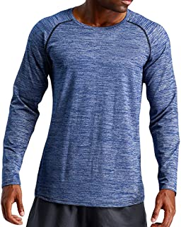 PASATO Mens Autumn Winter Long Sleeved Sports Fitness Loose Elastic Fast Dry Blouse Top New Sale