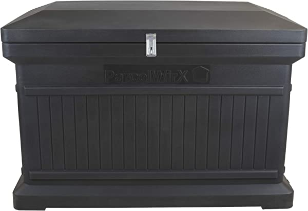 RTS Companies Inc 550200500A7981 Parcelwirx Premium Horizontal Delivery Drop Box W Hinged Lid Graphite