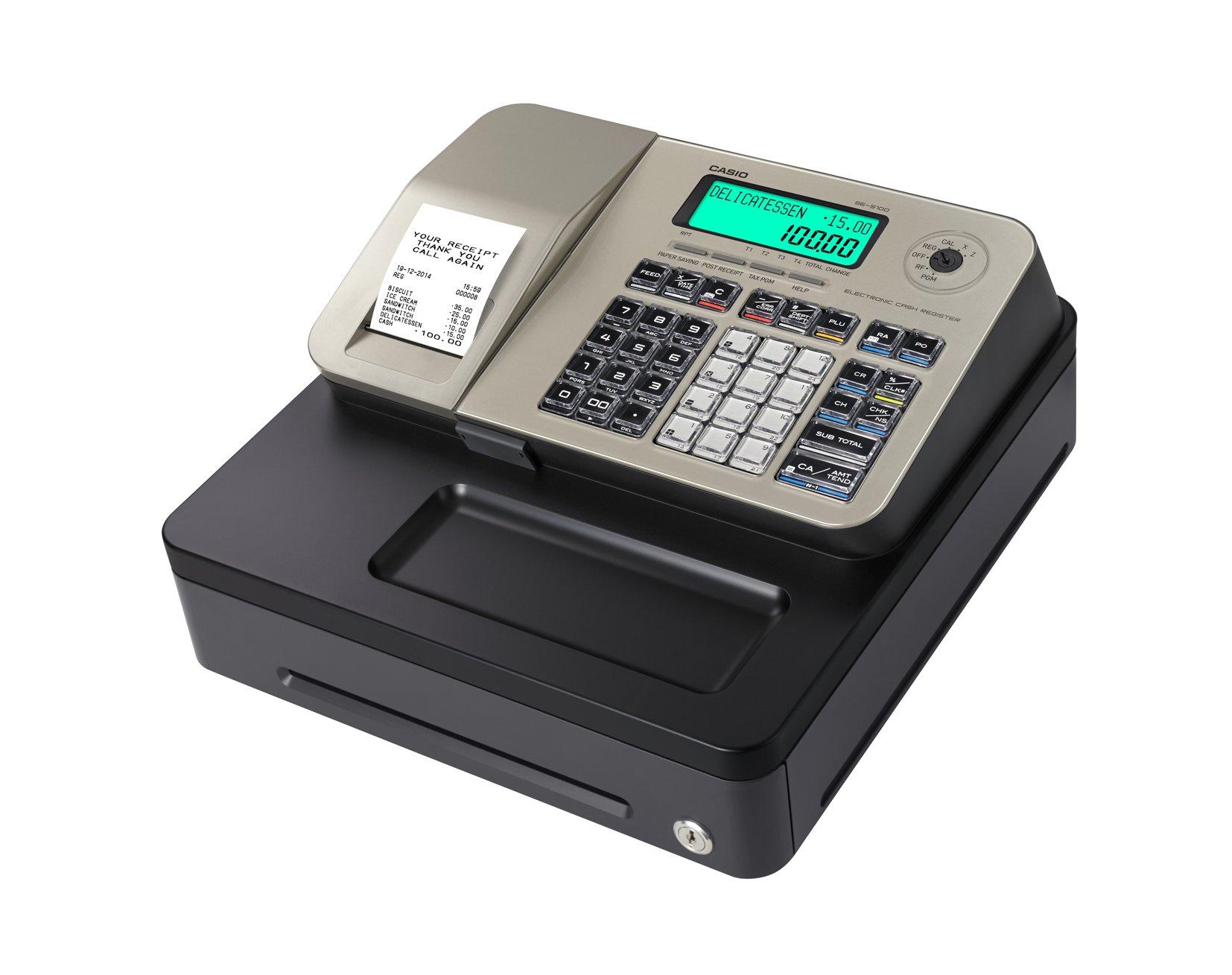 Caja registradora Casio SE-S100 (GOLD) 167 mm (Al) x 326 mm (An) x ...